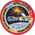 Explorers:Space Exploration, Apollo-Soyuz Test Project Flown Embroidered Mission Insignia PatchOriginally from the Personal Collection of Mission Command ...