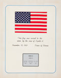 Explorers:Space Exploration, Apollo 12 Flown American Flag Directly from the Collection of aMission Control Center Flight Controller....