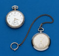 Timepieces:Pocket (post 1900), Two - Swiss Running 12 Size. ... (Total: 2 Items)
