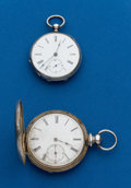 Timepieces:Pocket (pre 1900) , Two - Swiss Silver Key Winds. ... (Total: 2 Items)