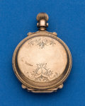 Timepieces:Pocket (post 1900), Illinois, 8 Size Low Karat Gold Box Hinge Hunters Case. ...