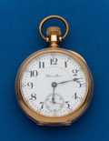 Timepieces:Pocket (post 1900), Hamilton, Grade 940, Gold Filled Railroad Pocket Watch. ...