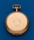 Timepieces:Pocket (post 1900), E. Howard, Gold Filled Hunters Case Pocket Watch. ...