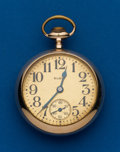 Timepieces:Pocket (post 1900), Elgin, 21 Jewel, Gold Filled, Father Time Open Face Pocket Watch. ...