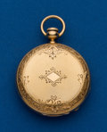 Timepieces:Other , W.P. & Co. 18k Gold Pocket Watch Case. ...