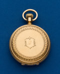 Timepieces:Pocket (post 1900), Waltham Royal, 18k Gold Hunters Case. ...