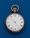 Timepieces:Pocket (post 1900), Swiss 14k, Open Face Pocket Watch. ...