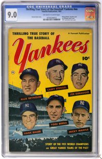 Thrilling True Story of the Baseball Yankees #nn (Fawcett, 1952) CGC VF/NM 9.0 Off-white to white pages