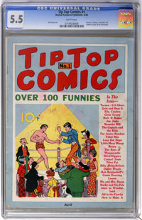 Tip Top Comics #1 (United Features Syndicate, 1936) CGC FN- 5.5 White pages