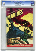 Golden Age (1938-1955):War, United States Marines #4 Vancouver pedigree (Magazine Enterprises, 1944) CGC VF+ 8.5 White pages....