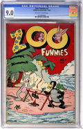 Golden Age (1938-1955):Funny Animal, Zoo Funnies #2 (Charlton, 1945) CGC VF/NM 9.0 Off-white to whitepages....