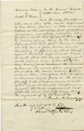 """Autographs:U.S. Presidents, Abraham Lincoln. Document Signed """"…& Lincoln p.q."""", witha brief docket on verso (""""Jones vs Maus / Replication"""")als..."""