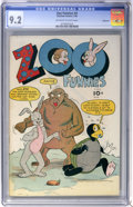 Golden Age (1938-1955):Funny Animal, Zoo Funnies #4 Vancouver pedigree (Charlton, 1946) CGC NM- 9.2Off-white to white pages....