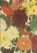 Fine Art - Painting, American:Modern  (1900 1949)  , A. EWART B (Twentieth Century). Vibrant Flowers, 1932. Oilon canvas. 21-3/4in. x 14-1/4in.. Signed at lower left A. E...(Total: 1 Item)
