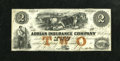 Obsoletes By State:Michigan, Adrian, MI- Adrian Insurance Co. $2 18__.. This nicely preserved remainder note was signed and numbered, but not dated. Ch...