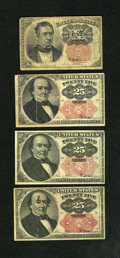 Fractional Currency:Fifth Issue, Fr. 1265 10c Fifth Issue VG. Fr. 1308 25c Fifth Issue Fine. Fr.1309 25c Fifth Issue Fine with spot on face and an approximate...(Total: 3 notes)