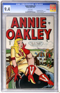 Golden Age (1938-1955):Humor, Annie Oakley #2 Vancouver pedigree (Timely/Atlas, 1948) CGC NM 9.4 White pages....