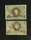 Fractional Currency:Second Issue, Fr. 1233 5c Second Issue Fine. Fr. 1244 10c Second Issue VG.. ... (Total: 2 notes)