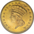 Proof Gold Dollars, 1887 G$1 PR66 PCGS....