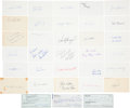 Autographs:Index Cards, 1950's-90's Brooklyn Dodgers Signed Index Cards & More Lot of33 with Robinson, Wheat....