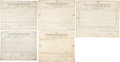 "Autographs:Statesmen, Five Texas Land Grants Signed by Texas Governors. Four are signedby the third governor, Peter H. Bell (""P. H. Bell""), a...(Total: 5 Items)"