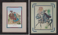 "Autographs:Artists, José Cisneros. Two Signed Color Prints, including: SpanishCaptain General on Horseback. 14.5"" x 19.5"" (sight), matt...(Total: 2 Items)"