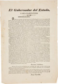 Miscellaneous:Broadside, Two Mexican War Broadsides. Includes:. ... (Total: 3 Items)