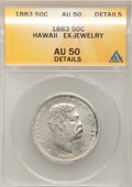 Coins of Hawaii: , 1883 50C Hawaii Half Dollar--Ex-Jewelry--ANACS. AU50 Details. NGCCensus: (21/253). PCGS Population (49/335). Mintage: 700,...