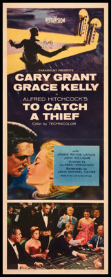 """To Catch a Thief (Paramount, 1955). Insert (14"""" X 36""""). Hitchcock"""