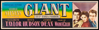 "Giant (Warner Brothers, 1956). Banner (24"" X 82""). Drama"