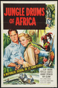 "Movie Posters:Serial, Jungle Drums of Africa (Republic, 1952). One Sheet (27"" X 41"") Flat Folded. Serial.. ..."