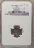 Early Half Dimes, 1800 H10C LIBEKTY--Damaged--NGC Details. XF. V-2, LM-3, R.4. ...