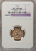 Patterns, 1859 P1C Indian Cent, Judd-228, Pollock-272, R.1--ImproperlyCleaned--NGC Details. Unc. ...