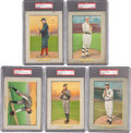 Baseball Cards:Lots, 1911 T3 Turkey Red Hall of Famers PSA-Graded Collection (5). ...