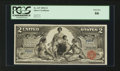 Large Size:Silver Certificates, Fr. 247 $2 1896 Silver Certificate PCGS Gem New 66.. ...