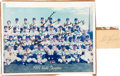 Baseball Collectibles:Photos, 1969 New York Mets Team Signed Photograph - With Gil Hodges CutSignature....