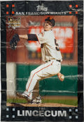 Baseball Collectibles:Others, 2007 Topps Tim Lincecum 6x8 Foot Banner....