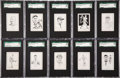 "Baseball Cards:Lots, 1950-56 Callahan ""Baseball Hall of Fame"" SGC-Graded Partial Set (29) With Ruth, Cobb and Gehrig. ..."