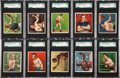 Boxing Cards:General, 1910 T218 Hassan Boxers SGC-Graded Collection (28) ...