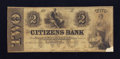 Obsoletes By State:New Hampshire, Sanbornton, NH- Citizens Bank Altered $2 Nov. 1, 1852. ...