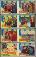 "Movie Posters:War, The Invaders (Columbia, 1941). Lobby Card Set of 8 (11"" X 14"").War.. ... (Total: 8 Items)"