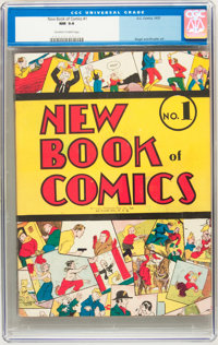 New Book of Comics #1 (DC, c. 1937) CGC NM 9.4 Off-white to white pages