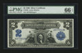 Large Size:Silver Certificates, Fr. 249 $2 1899 Silver Certificate PMG Gem Uncirculated 66 EPQ.. ...