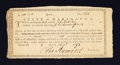 Colonial Notes:Maryland, Maryland Exchange Certificate £100 Aug. 5, 1793 Anderson MD 7Choice About New.. ...