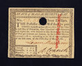 Colonial Notes:Massachusetts, Massachusetts May 5, 1780 $3 Choice About New.. ...