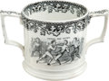 Boxing Collectibles:Memorabilia, 1860 Heenan vs. Sayers Porcelain Shaving Mug....