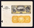 Large Size:Demand Notes, Republic of Hawaii $10 Gold Certificate 1895 Pick 7p Face and BackProofs.. ...