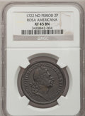 Colonials, 1722 2PENCE Rosa Americana Twopence XF45 NGC. Martin 4-C, W-1330,High R.6....