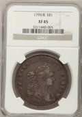 Early Dollars: , 1799/8 $1 15 Stars Reverse XF45 NGC. NGC Census: (31/100). PCGSPopulation (28/57). Numismedia Wsl. Price for problem free...