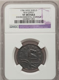 Colonials, 1786 COPPER New Jersey Copper, Wide Shield--EnvironmentalDamage--NGC Details. VF. Maris 18-M, W-4890, R.1....
